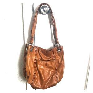 B. Makowsky tan leather bag